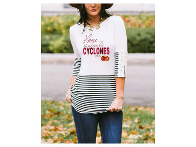 Iowa State Cyclones Gameday Couture NCAA Women's Button Back Top