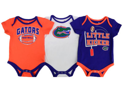 Florida Gators Outerstuff NCAA Infant 3 Points 3-Piece Creeper Set