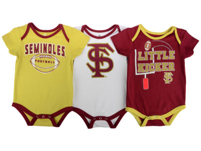 Florida State Seminoles Outerstuff NCAA Infant 3 Points 3-Piece Creeper Set