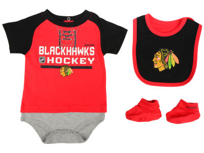 Chicago Blackhawks adidas NHL Newborn Junior League Bib & Bootie Set