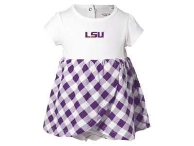 LSU Tigers NCAA Infant Girls Miranda Gingham Dress