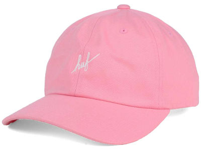 Huf Script Logo Curved Adjustable Hat