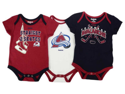 Colorado Avalanche adidas NHL Newborn Hat Trick Creeper Set