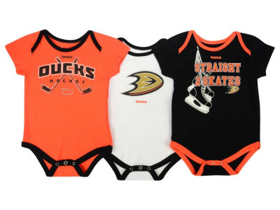 Anaheim Ducks adidas NHL Newborn Hat Trick Creeper Set