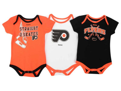 Philadelphia Flyers adidas NHL Newborn Hat Trick Creeper Set