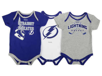 Tampa Bay Lightning adidas NHL Newborn Hat Trick Creeper Set
