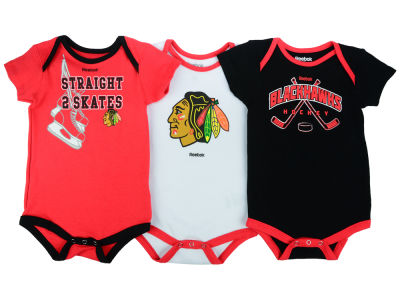 Chicago Blackhawks adidas NHL Infant Hat Trick Creeper Set