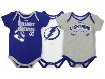 Tampa Bay Lightning adidas NHL Infant Hat Trick Creeper Set