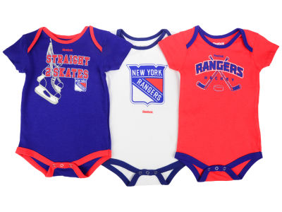 New York Rangers adidas NHL Infant Hat Trick Creeper Set