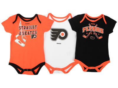 Philadelphia Flyers adidas NHL Infant Hat Trick Creeper Set