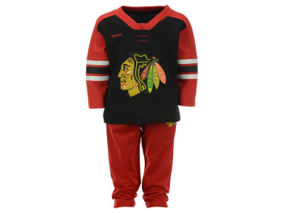 Chicago Blackhawks adidas NHL Infant MVP Pant Set 16