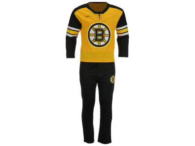Boston Bruins adidas NHL Infant MVP Pant Set 16