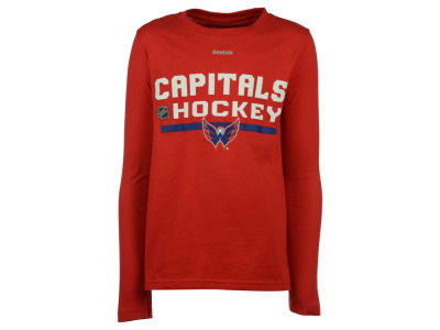 Washington Capitals adidas NHL Youth Authentic Freeze Long Sleeve T-Shirt