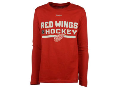 Detroit Red Wings adidas NHL Youth Authentic Freeze Long Sleeve T-Shirt