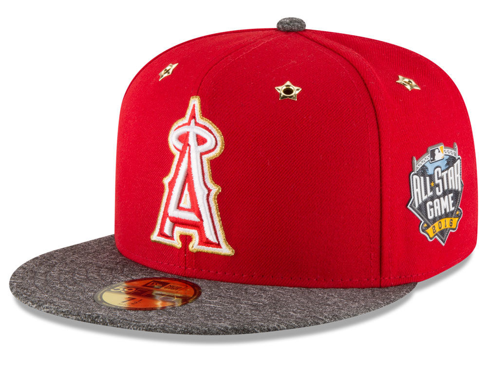 Los Angeles Angels New Era 2016 MLB All Star Game Patch 59FIFTY Cap ... 860821a76d45