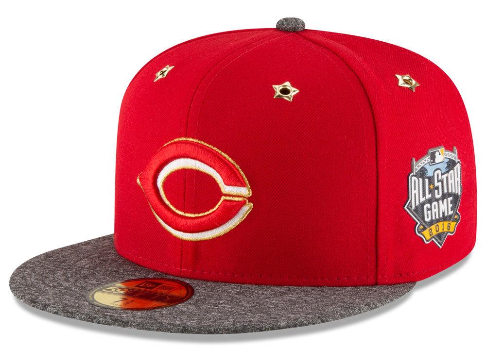 8330c9f5084 Cincinnati Reds New Era 2016 MLB All Star Game Patch 59FIFTY Cap ...