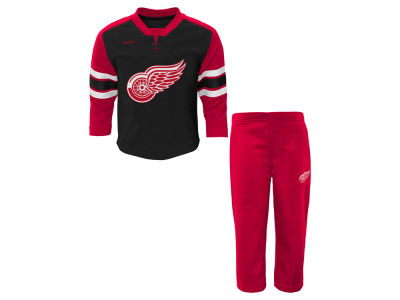 Detroit Red Wings adidas NHL Toddler MVP Pant Set