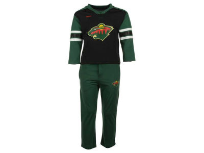 Minnesota Wild adidas NHL Toddler MVP Pant Set