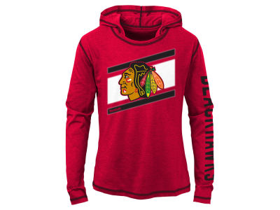 Chicago Blackhawks adidas NHL Youth Girls Long Sleeve Jersey Hoodie