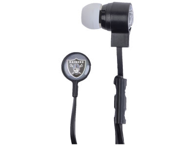 Oakland Raiders Big Logo Earbuds