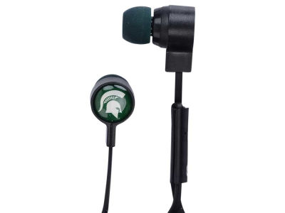 Michigan State Spartans Big Logo Earbuds