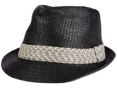 LIDS Private Label Straw Fedora with Braided Band