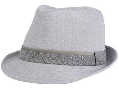 LIDS Private Label Contrast Shades of Gray Trilby