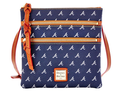 Atlanta Braves Dooney & Bourke Triple Zip Crossbody Bag