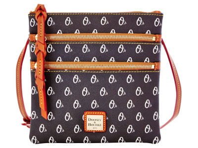 Baltimore Orioles Dooney & Bourke Triple Zip Crossbody Bag