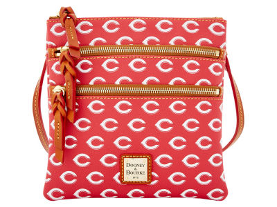Cincinnati Reds Dooney & Bourke Triple Zip Crossbody Bag