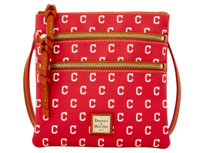 Cleveland Indians Dooney & Bourke Triple Zip Crossbody Bag