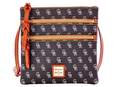 Colorado Rockies Dooney & Bourke Triple Zip Crossbody Bag
