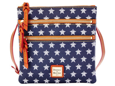 Houston Astros Dooney & Bourke Triple Zip Crossbody Bag