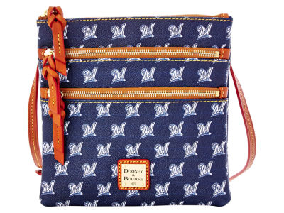 Milwaukee Brewers Dooney & Bourke Triple Zip Crossbody Bag