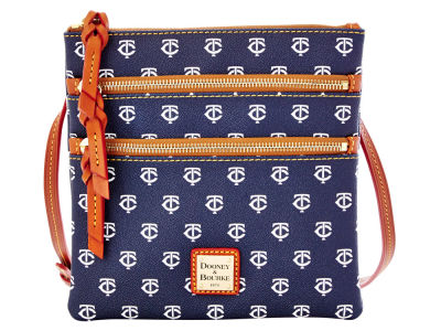 Minnesota Twins Dooney & Bourke Triple Zip Crossbody Bag