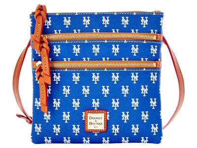 New York Mets Dooney & Bourke Triple Zip Crossbody Bag