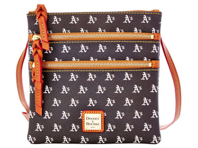 Oakland Athletics Dooney & Bourke Triple Zip Crossbody Bag