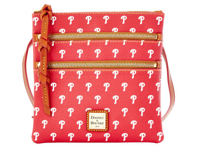 Philadelphia Phillies Dooney & Bourke Triple Zip Crossbody Bag