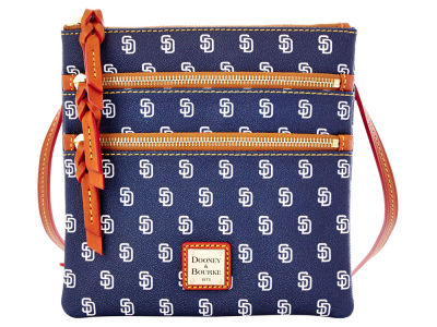 San Diego Padres Dooney & Bourke Triple Zip Crossbody Bag