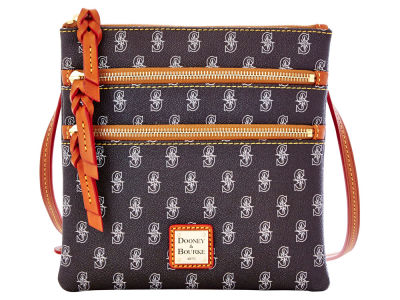 Seattle Mariners Dooney & Bourke Triple Zip Crossbody Bag