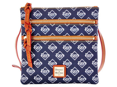Tampa Bay Rays Dooney & Bourke Triple Zip Crossbody Bag
