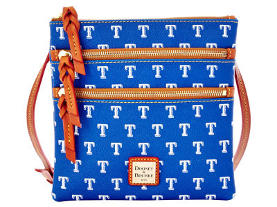 Texas Rangers Dooney & Bourke Triple Zip Crossbody Bag