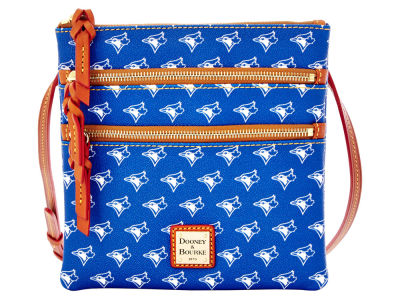 Toronto Blue Jays Dooney & Bourke Triple Zip Crossbody Bag