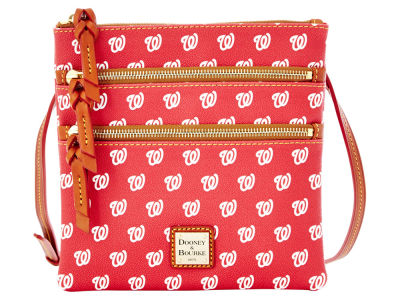 Washington Nationals Dooney & Bourke Triple Zip Crossbody Bag
