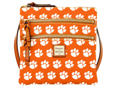 Clemson Tigers Dooney & Bourke Triple Zip Crossbody Bag