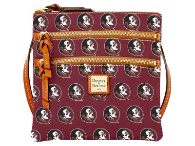 Florida State Seminoles Dooney & Bourke Triple Zip Crossbody Bag