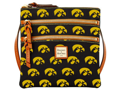 Iowa Hawkeyes Dooney & Bourke Triple Zip Crossbody Bag