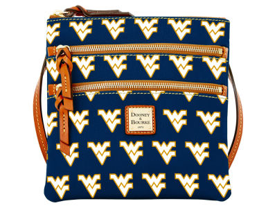 West Virginia Mountaineers Dooney & Bourke Triple Zip Crossbody Bag