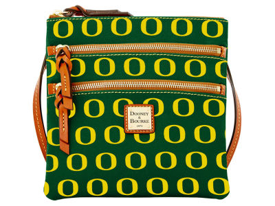 Oregon Ducks Dooney & Bourke Triple Zip Crossbody Bag