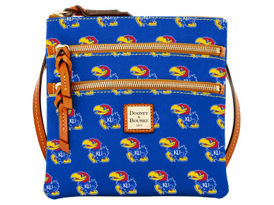 Kansas Jayhawks Dooney & Bourke Triple Zip Crossbody Bag